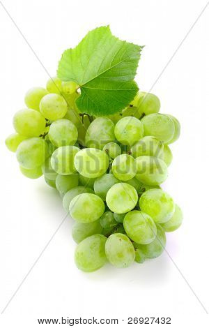 green freshness grape on the white background
