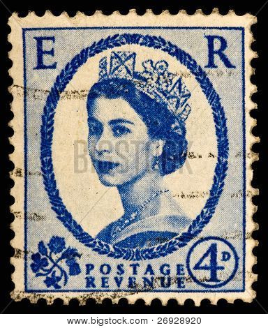Vintage Uk Postage Stamp