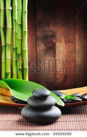 piedras de basalto de zen de concepto de Spa