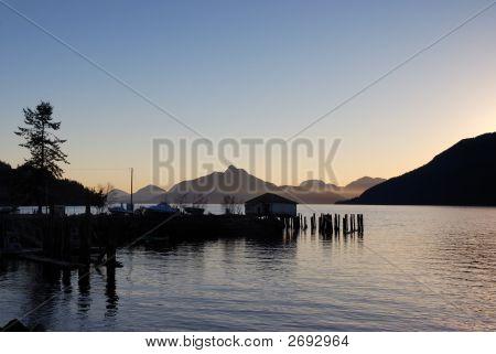 Sunset At Britannia Beach, British Columbia