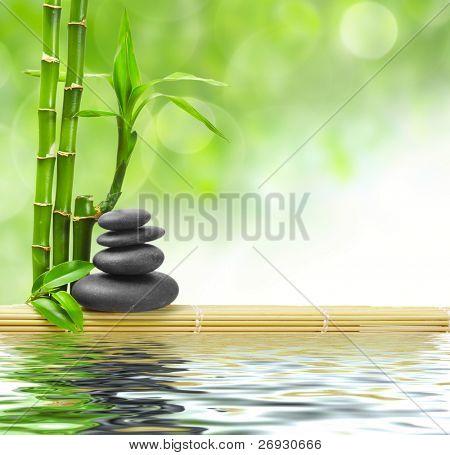 Spa Konzept Zen Basaltsteinen