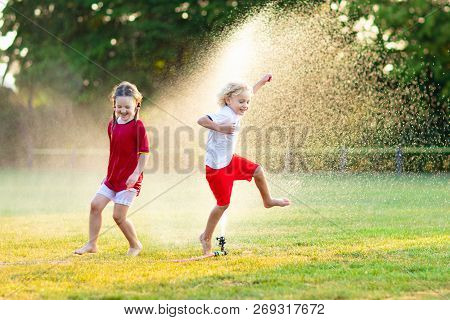 Kids Play With Water Child