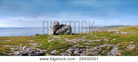 Burren stone panoramic