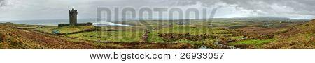 Irish castle panoramic