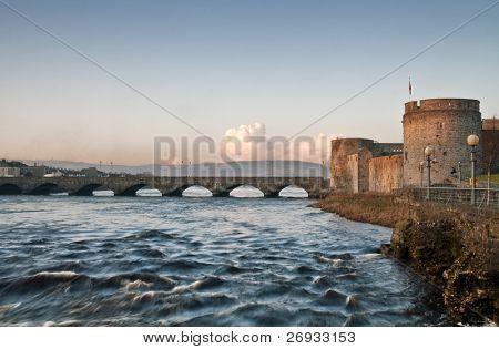 River side of King John Castle