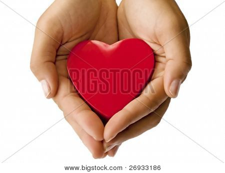 Heart on the hand