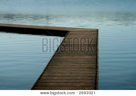 Pontoon At A Lake