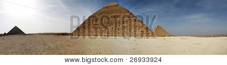 Pyramids in Giza - panoramic