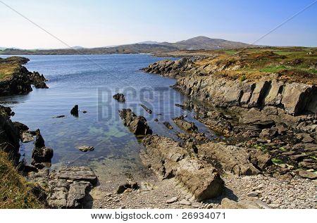 Rocky coastline scenery