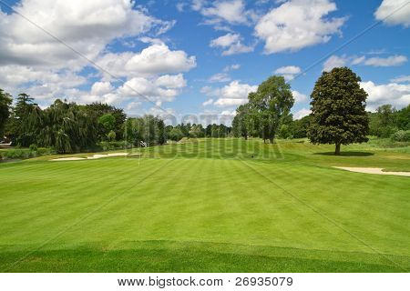 Irish idyllic golf course