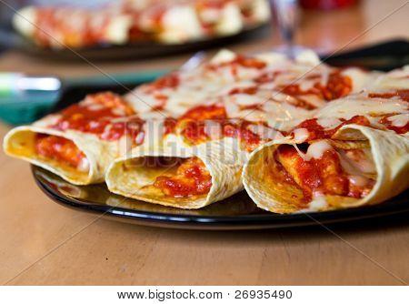Mexican style enchiladas