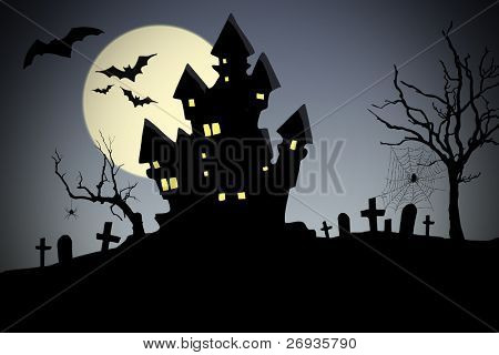 Creepy house - halloween
