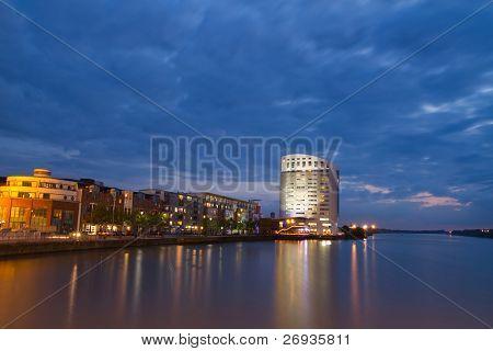 Limerick cityscape at dusk