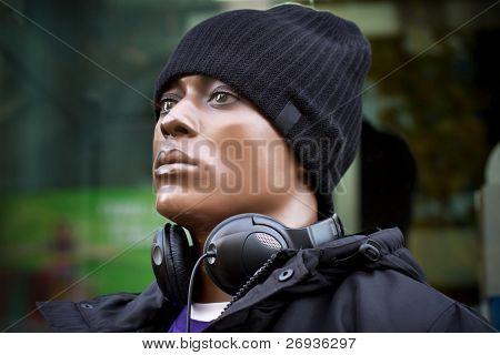 Black man modern fasion mannequin