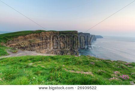Cliffs of Moher at dusk - Irish national landmark