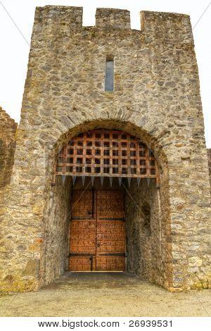 HDR of Adare Castle gate - Ireland