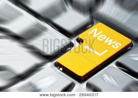 Botón de noticias en teclado