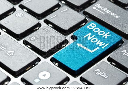 Book now button on keyboard