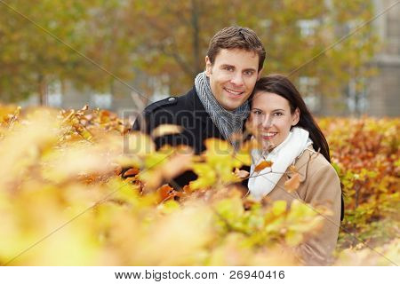 Happy Couple In Fall
