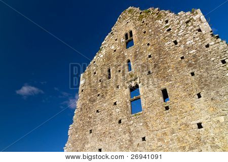 Ruins of Hore Abbey against  blue sky - Ireland
