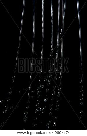 Water Droplets Over Black Background