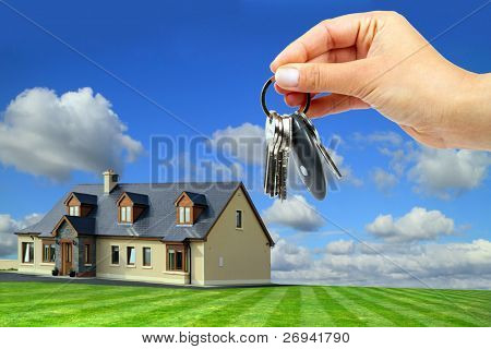 Keys to new idyllic house