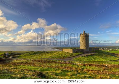 Doonagore castle near Doolin, Co. Clare, Ireland