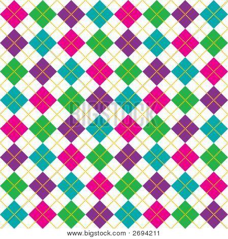 Bright Argyle Pattern