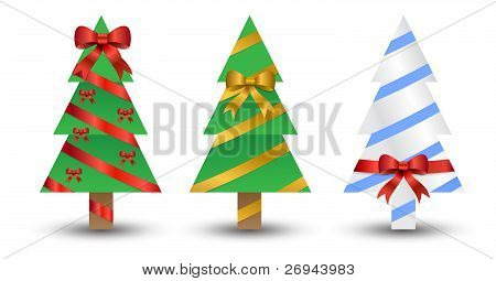 christmas trees wrapped up