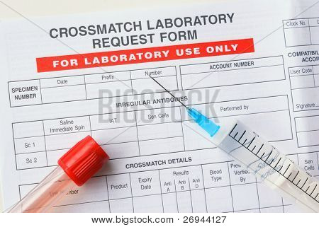 Crossmatch test