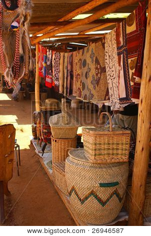 Craft market in Swaziland, Africa