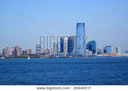 New Jersey uitzicht vanaf de veerboot