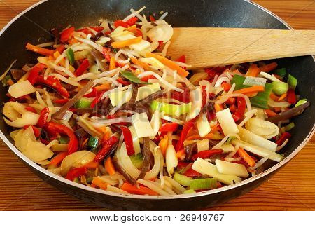 Stir-fried Chinese vegetables