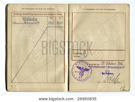 Work permit - Nazi occupation in Poland