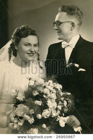 Vintage wedding photo (1948)