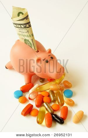 "Costly medication (or ""save buying generic drugs"")"