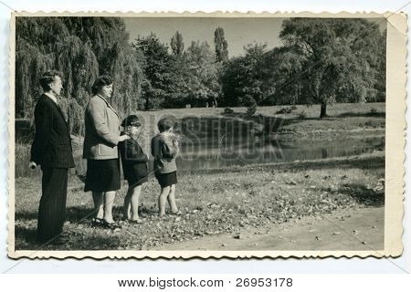 Vintage photo of family (early fifties)
