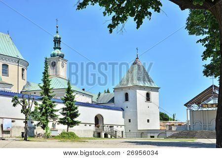 Bernardine church and monastery in Le?ajsk (Poland)