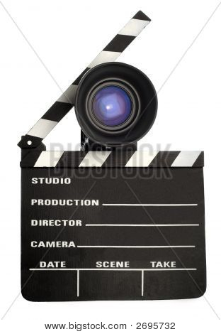 Film Slate And Lens
