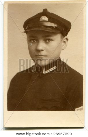 Vintage photo of a boy (twenties)