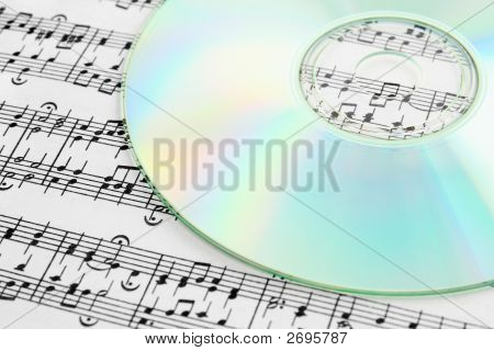 Audio Cd And Music Notes