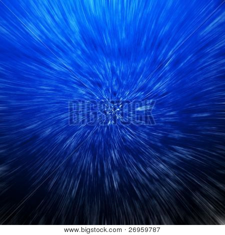 space warp blue abstract background