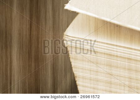 Grunge detail of a book's pages