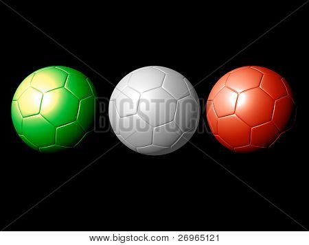 Soccer balls - tribute to Italy