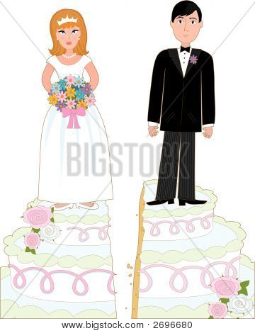 Scheidung-Kuchen