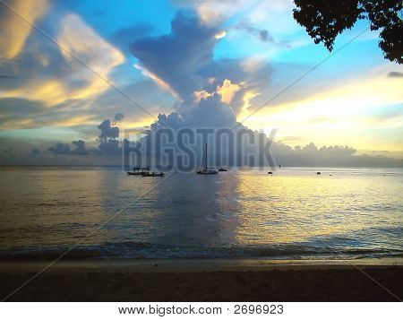 Barbados  As The Sun Sets