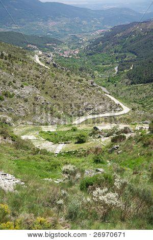 Ancient Roman Road At Gredos Mountains