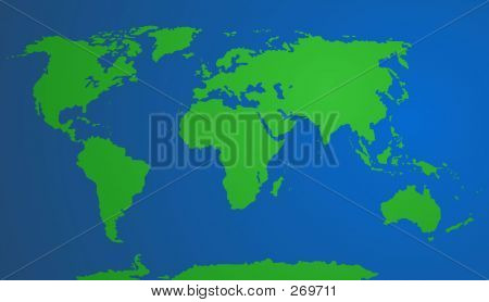 Vector - World Map ( Blue)