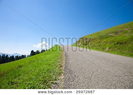 Empty road in the hills