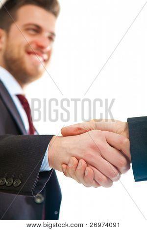 Dos manos temblando de empresario